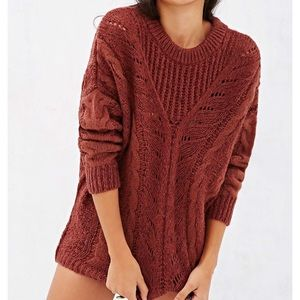 Urban Outfitters Ecote Madison Cable Knit Sweater